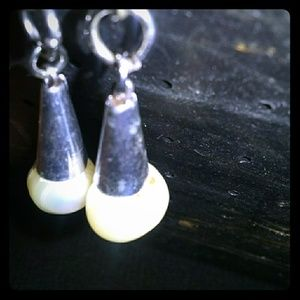 Pearl Cone Earrings